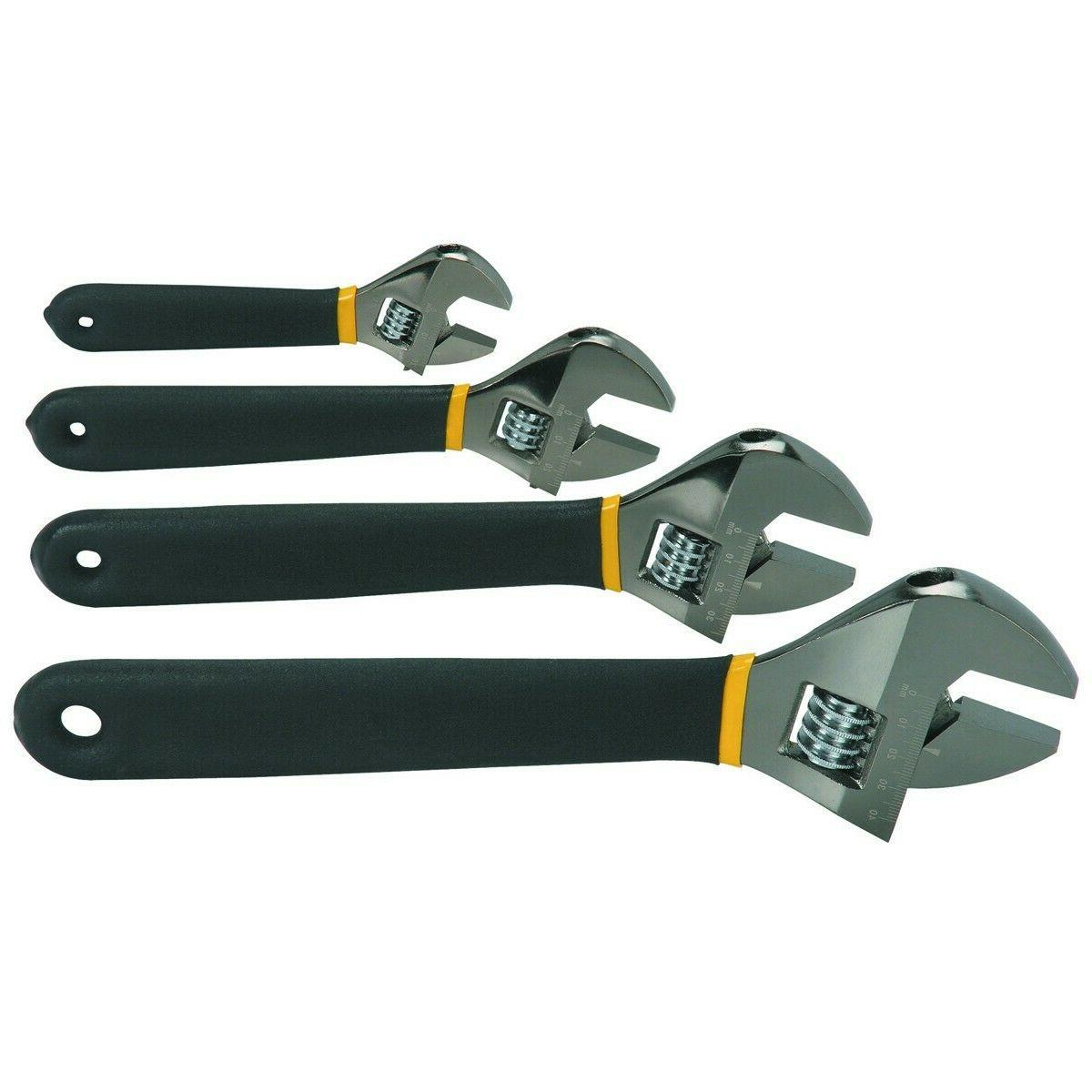 4 Pc Adjustable Crescent Wrench Style Set  SALE !!!!!!!!!!!!