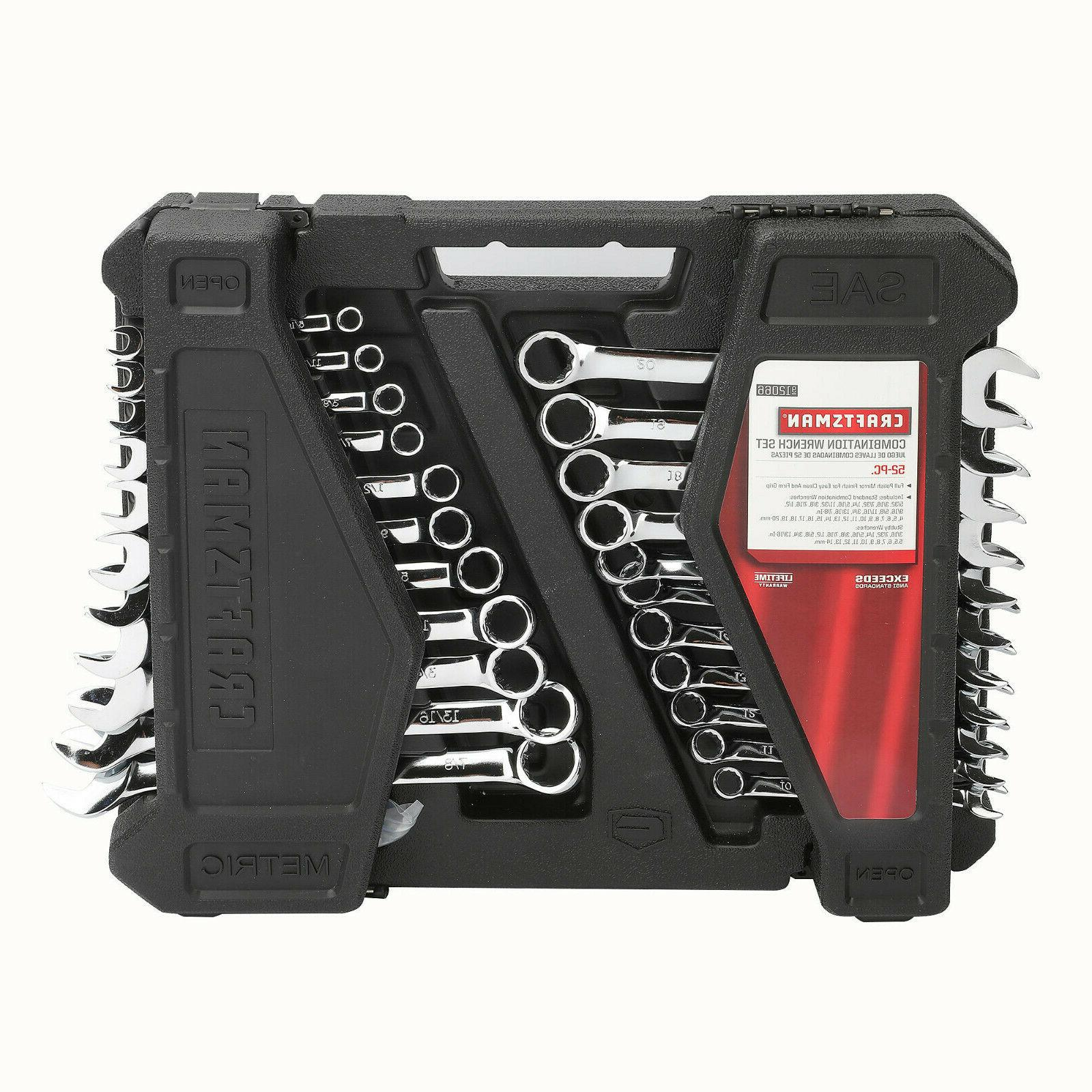 52pc piece combination wrench set inch