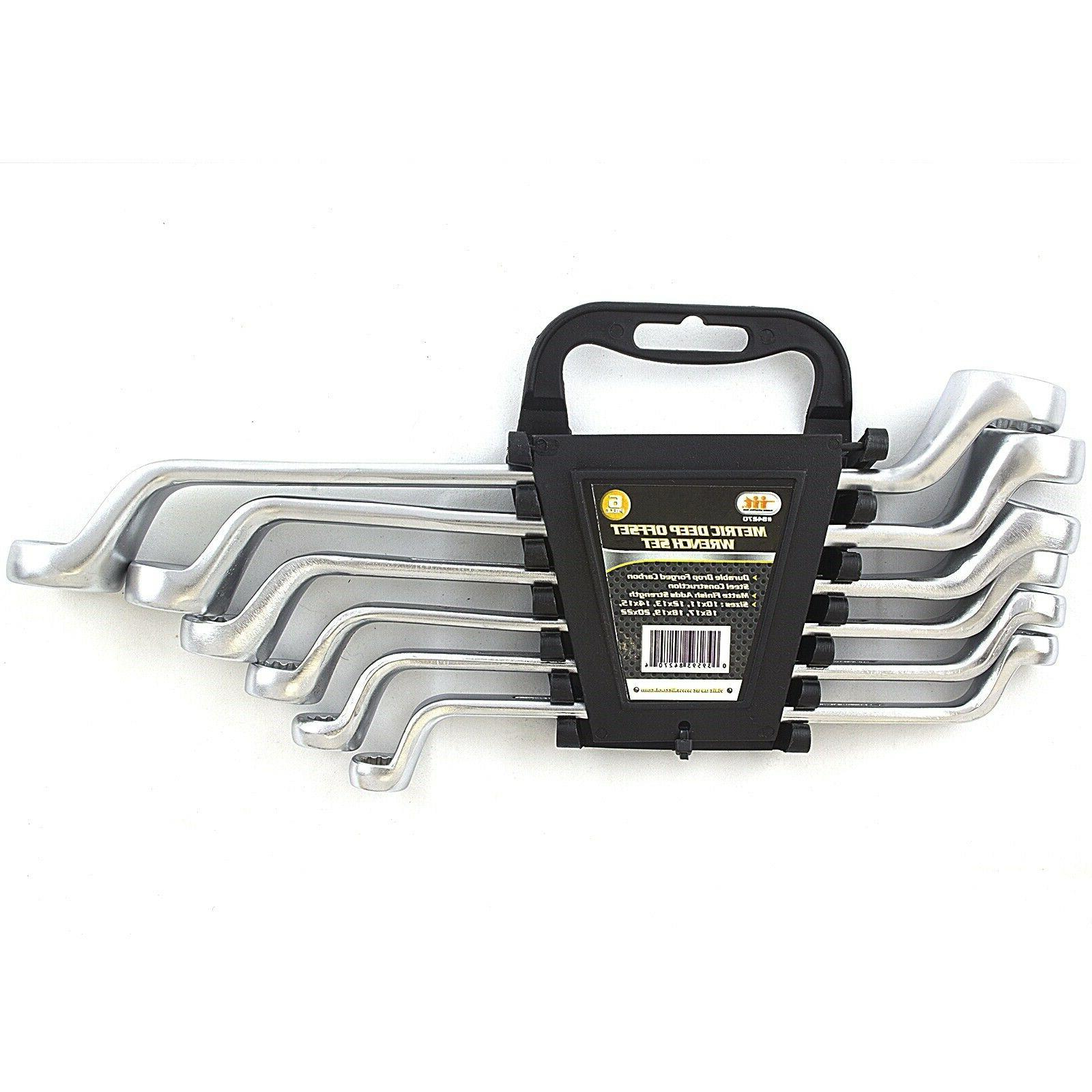 6 PIECE METRIC DOUBLE OFFSET BOX END RING 10-22mm WRENCHES T