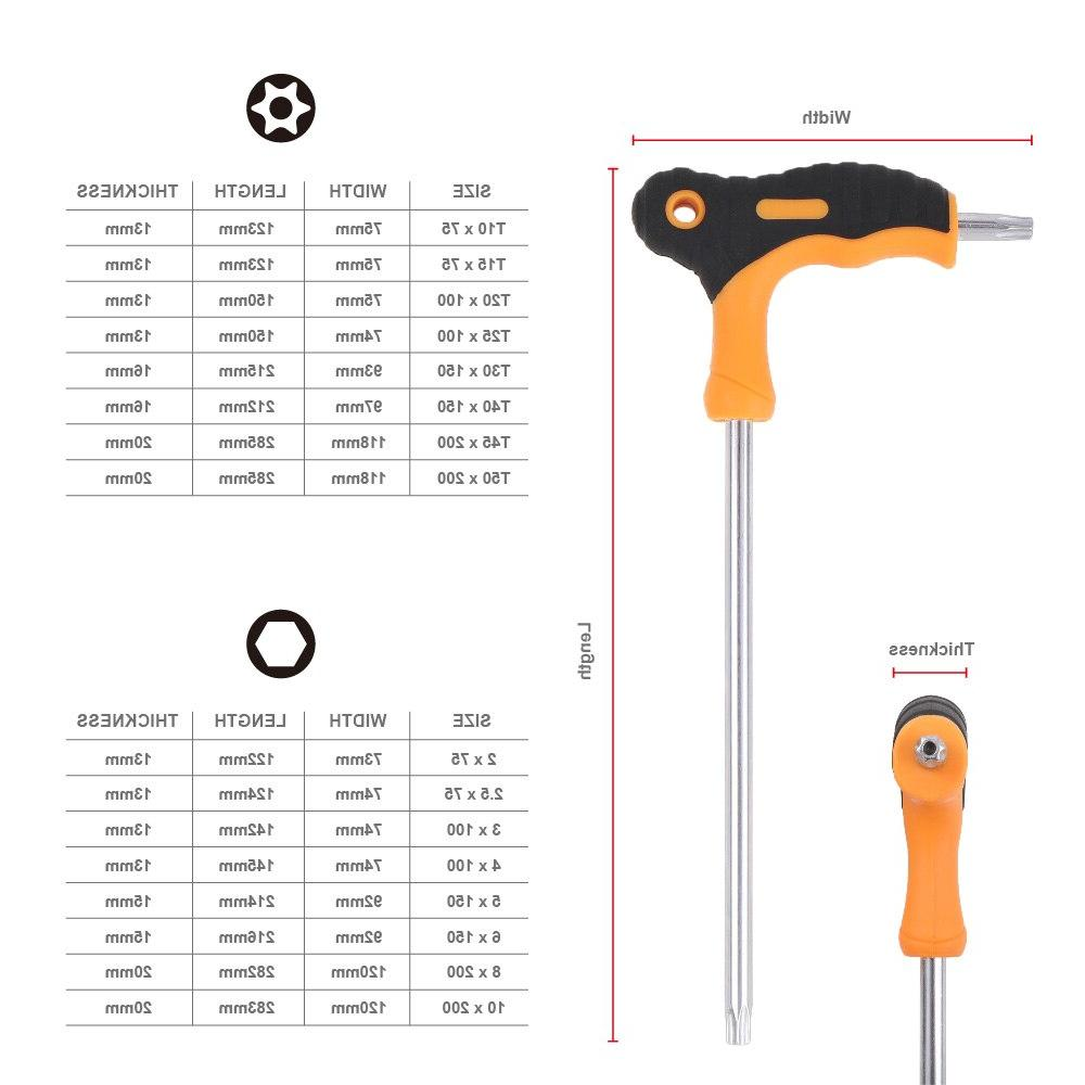 8 Pieces T-Handle Key <font><b>Wrench</b></font> <font><b>Ball</b></font> Allen Spanner Hand 2mm-10mm For Auto