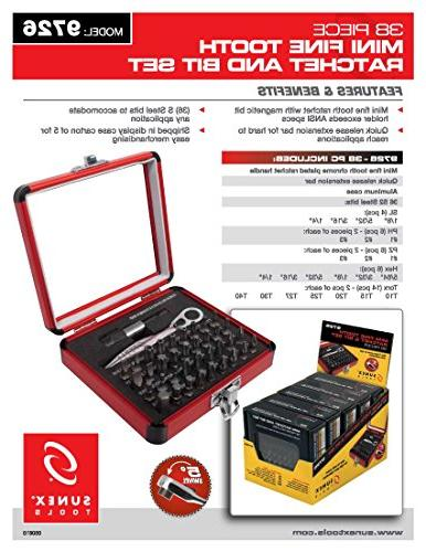 Sunex Tools 9726 Mini Ratchet Bit Set