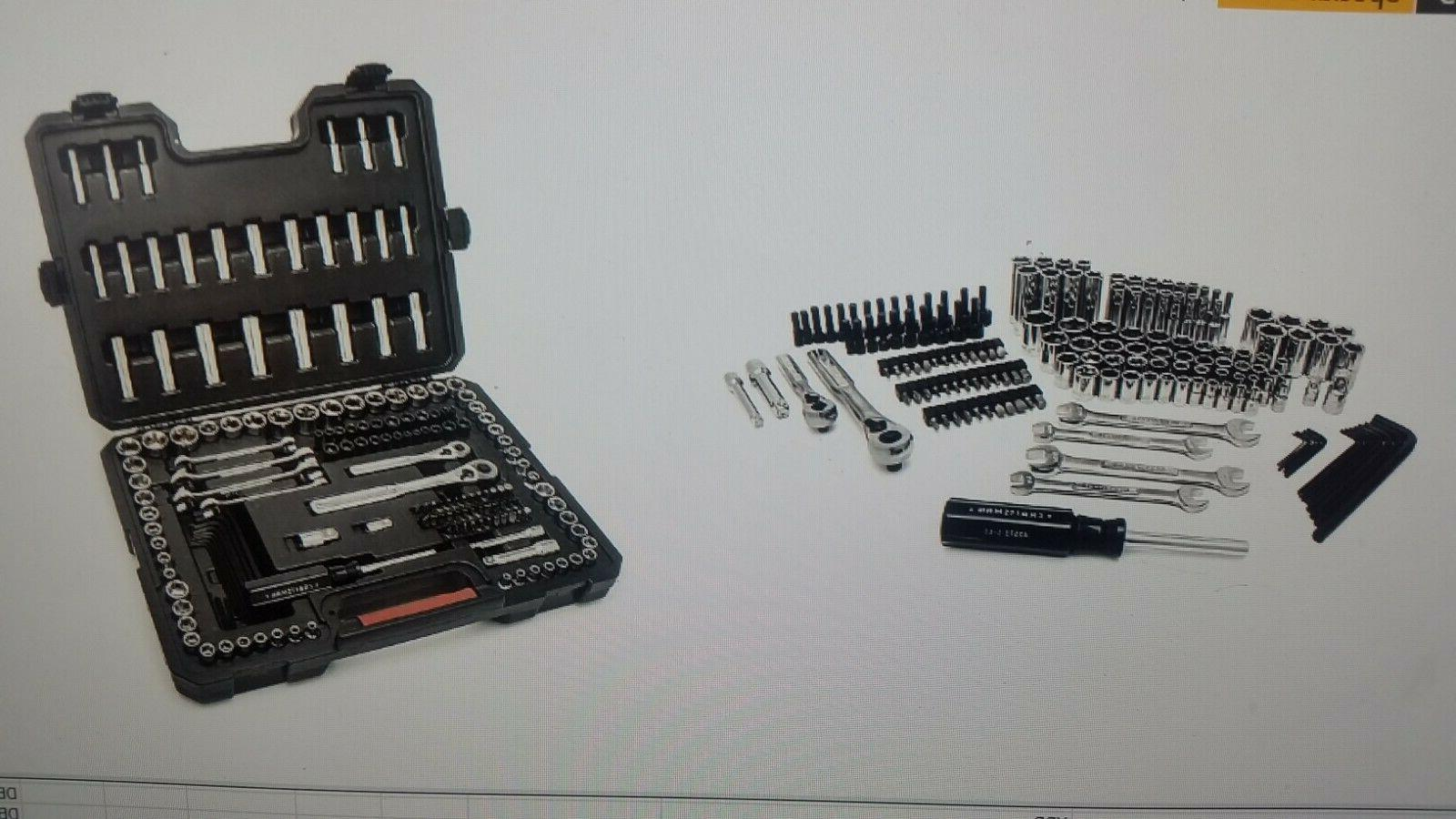 Craftsman 165 pc Mechanics Tool Set Standard Metric Socket R