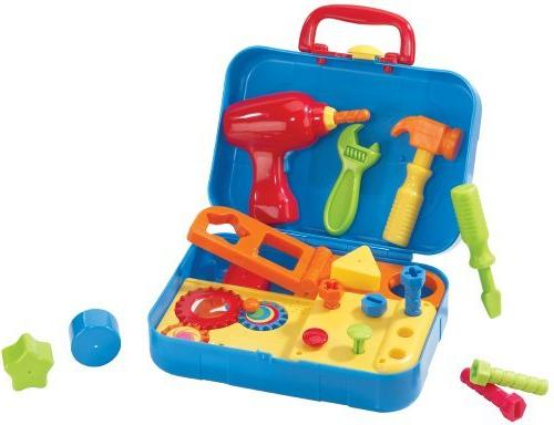 Kidoozie Cool Tools Set Shape Sorting, Motor Activities with Sounds - 18+