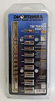 Armstrong 44-322A 1/4-Inch Drive 6 Point Metric Socket Set,