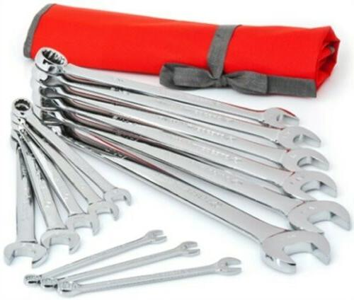 Crescent CCWS4 SAE Combination Wrench Set with Roll Pouch, 1