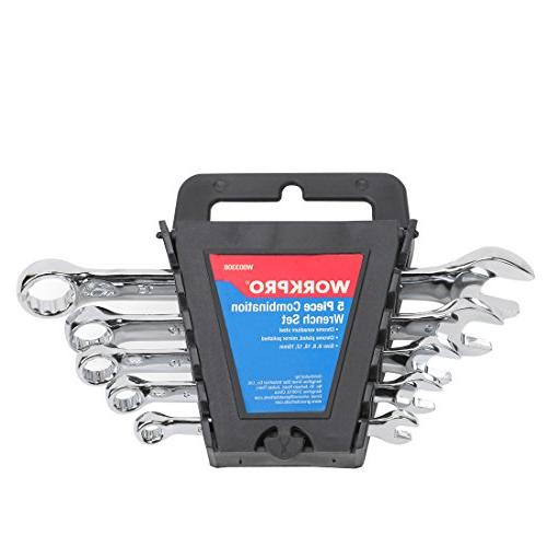 WORKPRO Combination Wrench Set with Rack