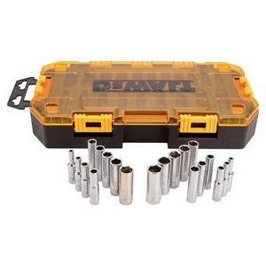 DEWALT DWMT73811 Tool Kit 1/4'' Drive Deep Socket Set, 20 Pi