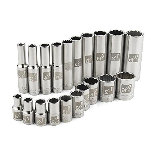 12 Point Std Dr SAE Sockets-USA- Choose Craftsman Easy Read 1//4 in