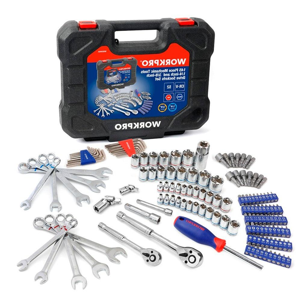 "<font><b>WORKPRO</b></font> 145PC Tools for Wrenches 1/4"" Dr. <font><b>Set</b></font> Wrench <font><b>Set</b></font>"
