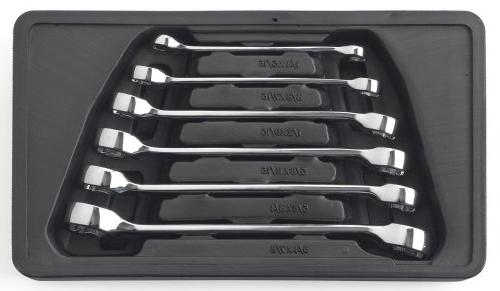 GearWrench 81907 6 Piece Flare Nut SAE Wrench Set