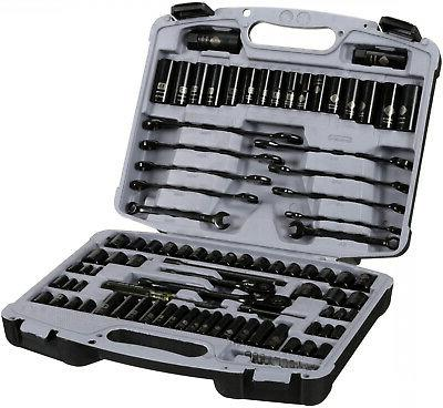 Mechanics Tool Set Ratchet Metric SAE Screwdriver Bit