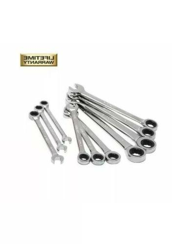 metric combination ratcheting wrench set 10 piece