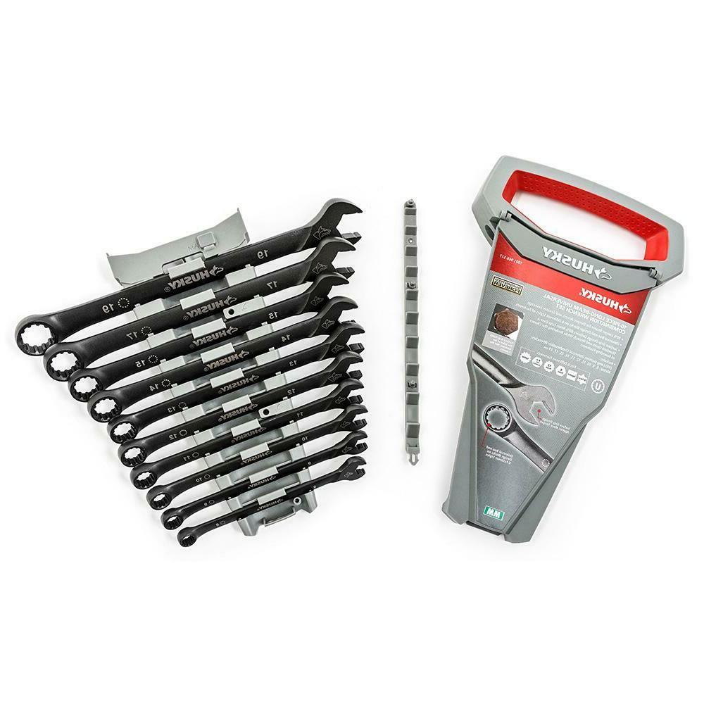 Husky Metric Combination Wrench Set 10-Piece Long-Pattern