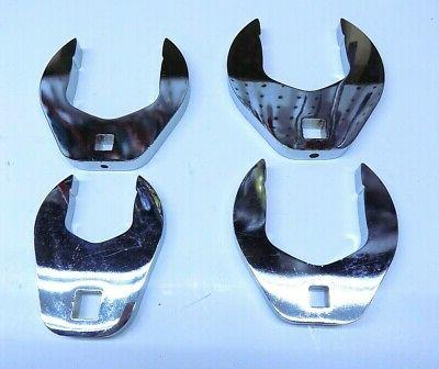 New 4 Pc PROTO Polished Heavy Duty Crowfoot Wrench MADE