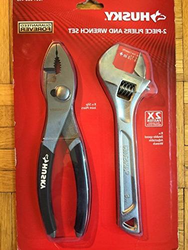 Husky 2-Piece Pliers and Wrench Set