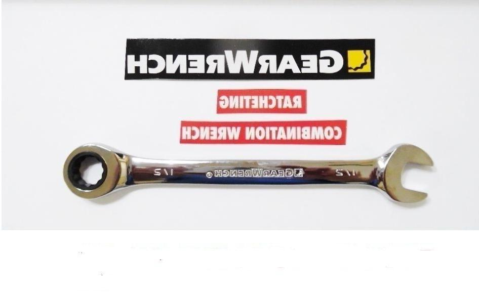 GearWrench Ratcheting Combination  Wrench Metric mm Inch Reg