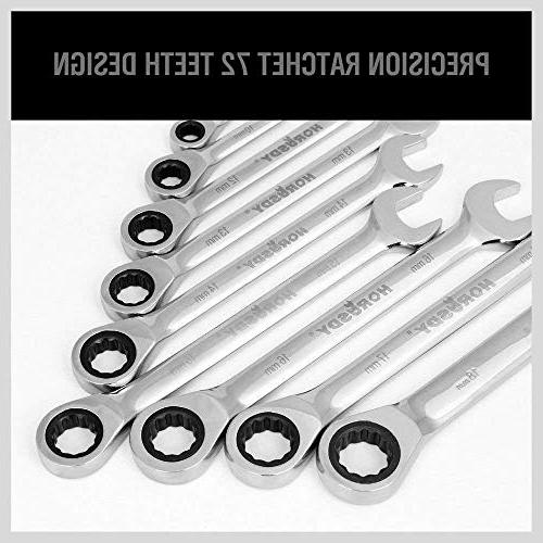 HORUSDY 20-Piece Wrench Set, Ratchet roll up neatly an storage in