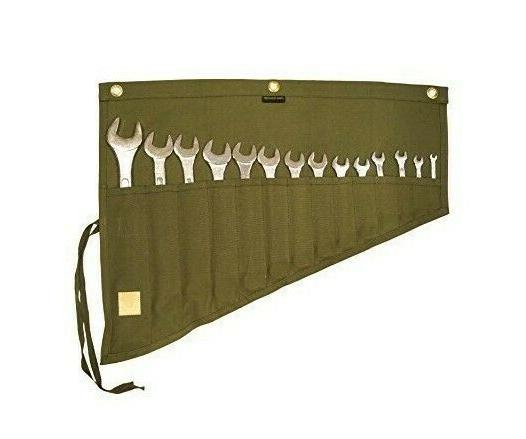Roll Wrench Set Slot Organizer Canvas Bag Waterproof