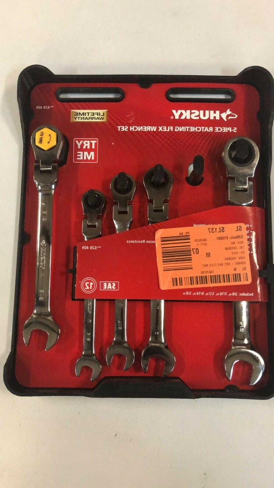 sae flex ratcheting wrench set