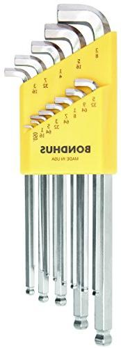 Set 13 BriteGuard Plated Stubby Balldriver L-wrenches .050-3