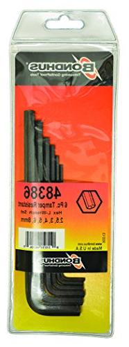 Set 6 Hex Tamper Resistant L-Wrenches