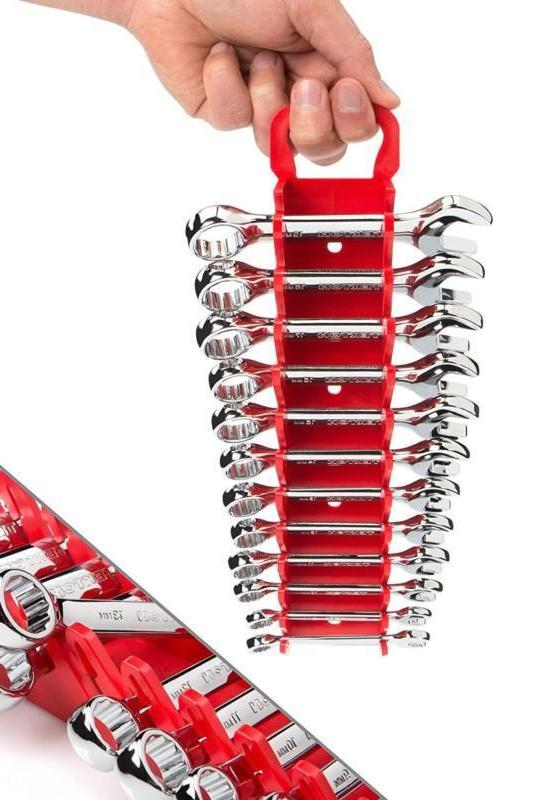 Stubby Wrench Set With Keeper, Metric,8Mm-19Mm,12-Piece