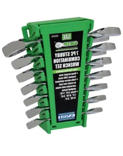 stubby combo wrench set sae 7 piece