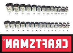 Craftsman Laser Etched Easy Read 28 Piece SAE Standard & Met