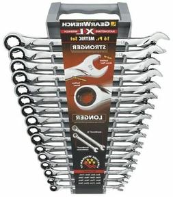 16 Piece Metric XL Ratcheting Combination Wrench Set