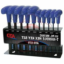 New ATD 10-Piece Metric T-Handle Hex Key Set w/ Metal Stand
