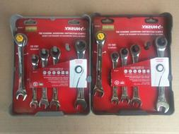 NEW Husky 10 Piece Ratcheting Universal Wrench Sets - 5 SAE