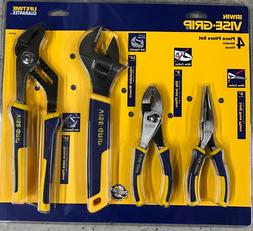 NEW Irwin 4 Piece Long Nose, Groove & Slip Joint Pliers & Ad