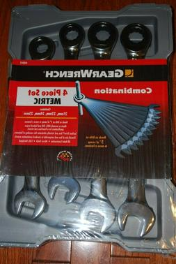 New Gear-Wrench 4-PC Metric Large Size Ratcheting Combinatio