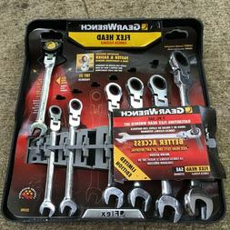 New Gear Wrench 7-PC SAE Ratcheting Flex Head Wrench Set # 3