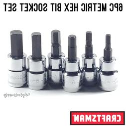 CRAFTSMAN 17 PC HEX BIT SOCKET SET 1//4 3//8in DRIVE SAE METRIC RATCHET WRENCH NEW