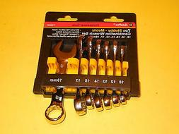 NEW T42093 AmPro 7PC STUBBY COMBINATION METRIC WRENCH SET ,
