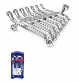 Offset Box End Wrench Set, 8-Piece, Metric 6-22 Mm, Cr-V, Ge
