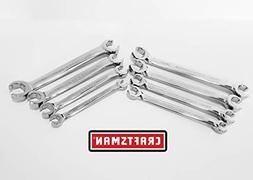 Craftsman 8 piece Full Polish Flare Nut Wrench Set Standard