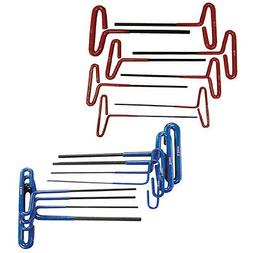 Professional 20pc SAE + Metric T-Handle Hex Key Wrench Set -