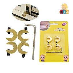 4 pcs - Safety Sliding Brass Proof Window Lock for Baby/Chil