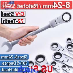 Ratchet Flexible Head Ratcheting Wrench Spanners Gear Tool S
