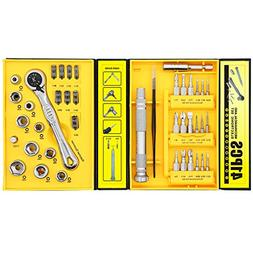 Ratchet Wrench Screwdriver Set, Metric Socket Sets + Micro S