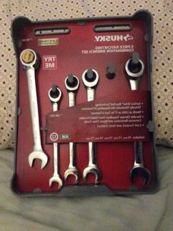 Husky 5-piece Ratcheting Flex Head Metric Wrench Set