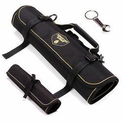 Teutonic Tools Tool Roll Up Bag Combo  - 25 Pockets Pouch Wa