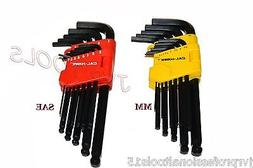 13pc SAE Hex Key Allen Wrench Set Long Short Arm Ball End w