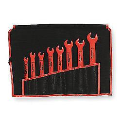 KNIPEX 8pc. SAE Insulated Open End Wrench Set