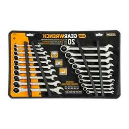 GearWrench SAE/Metric Combination Ratcheting Wrench Set