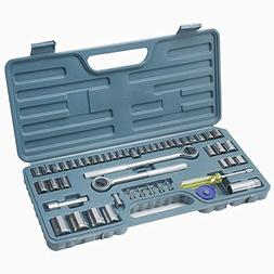 "Hi-Spec 52 Piece SAE & Metric Socket Set including 1/2"" and"