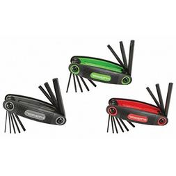 Pittsburgh 3 Piece SAE, Metric, and Torx  Folding Hex Key Wr