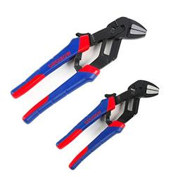 WORKPRO 2-piece Self-adjusting Groove Joint Pliers 8-inch &